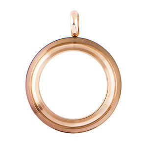 Medium Rose Gold Base Twist Living Locket Necklace